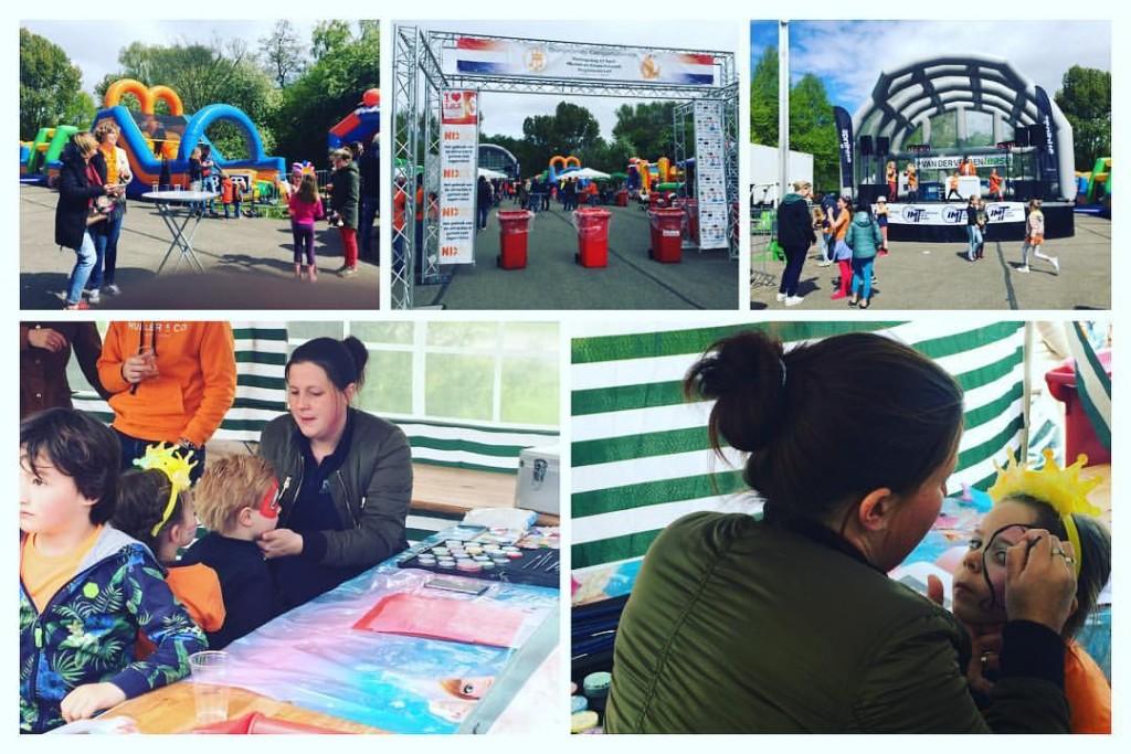DCR Schminker bij Muziek en Kinderfunpark Hogelanddreef georganiseerd door Oranjecomité Componistenwijk en Revelation Events